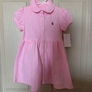 NWT-Ralph Lauren|Shirt Sleeve Dress- Size 12months